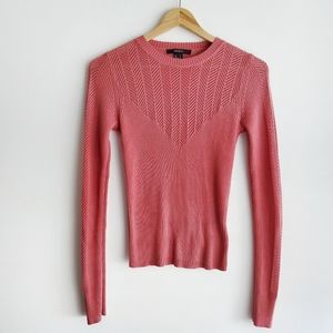 FOREVER 21 Long Sleeve Knit Top Dusty Rose Size S